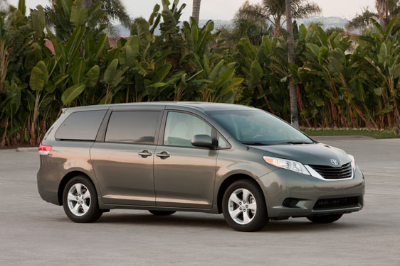 The Toyota Sienna Minivan 2012