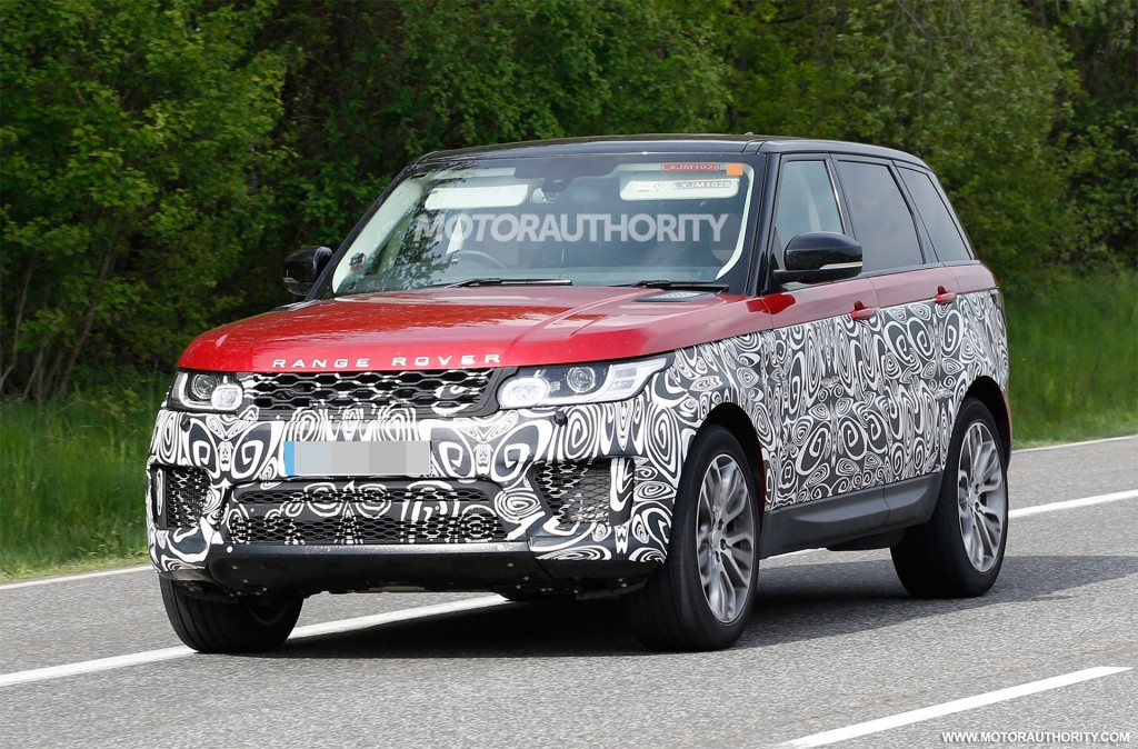 spy shots of 2018 land rover range rover sport are out suv news and analysis. Black Bedroom Furniture Sets. Home Design Ideas