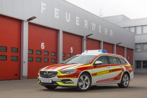 Open Insignia Sports Tourer with new livery for the fire department.