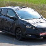 Spy shot of the 2018 Nissan Leaf EV. (Photo Source: Autocar)