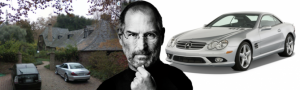 steve jobs mercedes-benz sl55 amg
