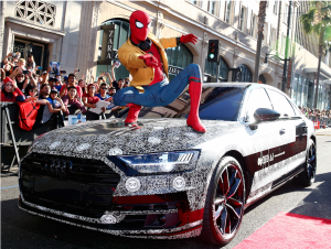 spider-man and audi a8