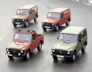 The old models of the G-Wagen.