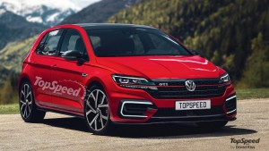 Rendering of the 2020 Volkswagen Golf MK8 GTI from TopSpeed.