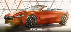 Xtomi Design's rendering of the 2020 BMW 8-Series Convertible.