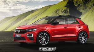 Rendering of the Volkswagen T-Roc GTI by X-Tomi Design.