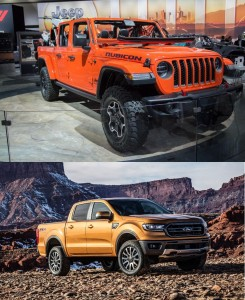 2020 jeep gladiator vs 2019 ford ranger
